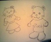 ネコとクマ