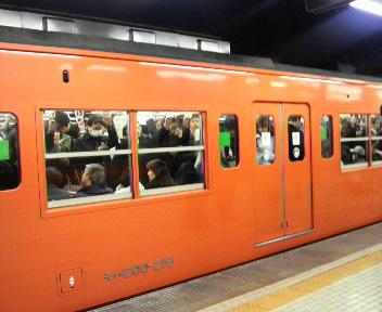 オレンジの電車!!